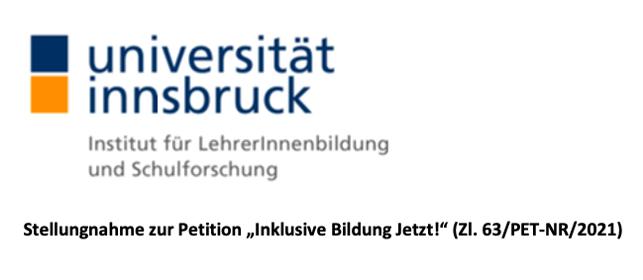 Screenshot der Überschrift der Stellungnahme zur Petition von Univ.-Prof. Dr. Thomas Hoffmann, Universität Innsbruck. Um zur Stellungnahme zu gelangen auf das Bild klicken.